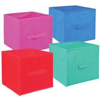 Essentials Gray Collapsible Storage Containers With Handles 11 In Colorful Storage Storage Containers Sewing Essentials