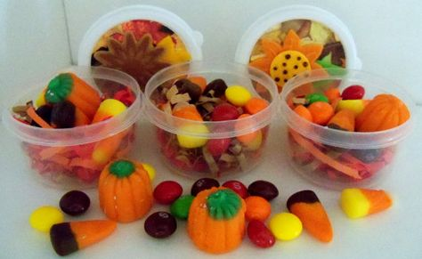 Autumn Favors in a cup Classroom treats for by SuperCraftyLady, $10.00