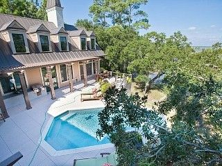 Folly Beach House Rental Luxurious Estate Secluded Home With Infinity Pool