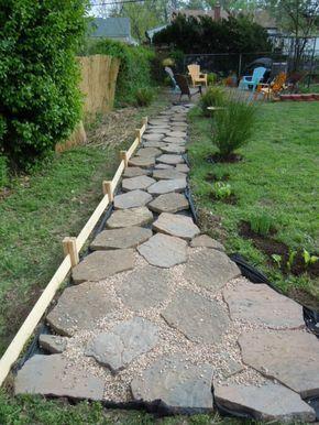 Steingarten Anlegen Gartengestaltung Kies Splitt Gartenweg Anlegen Pflaster Vlies Garten Gartengestaltung Gartenweg