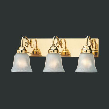 Best Bathroom Light Fixtures | Square Panel Vanity Light In Polished Brass  * Click On The