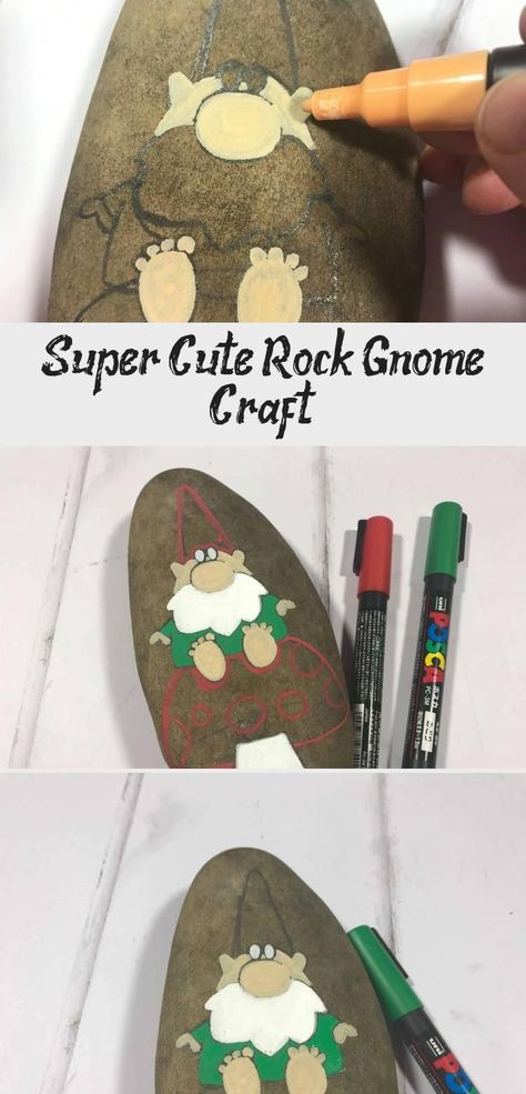 Super Cute Rock Gnome Craft - This is a fantastic gnome rock painting idea and painted rock tutorial. #paintedrocks #rockpainting #rockart #gnomes   Best Picture For  oil paintings beach  For Your Taste  You are looking for something, and it is going to tell you exactly what you are looking for, and you didn't find that picture. Here you will find the most beautiful picture that will fascinate you when called  oil paintings woman . When yo... #oil paintings Impressionism #oil paintings Oleo