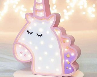 Unicorn Night Light Wooden Night Light Kids Decoration Pony Nursery Girls Room Decor Gift For Kids Room Decor Night Light Kids Unicorn Room Decor Unicorn Lamp