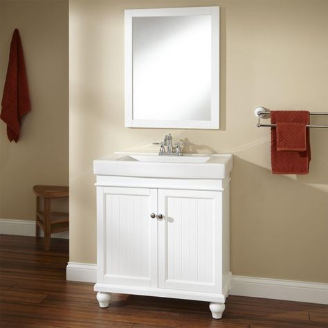 30 Lander Vanity White Grey Bathroom