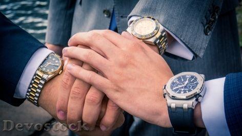Devostock Men three Hands Watches Agreetment 4k