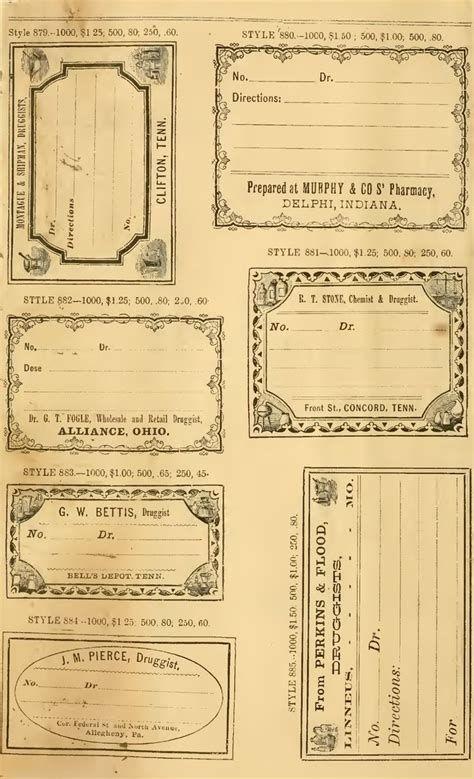 Free Junk Journal Vintage Printables Vintage Printables Free Vintage Printables Apothecary Labels