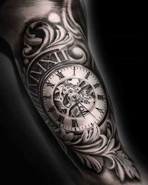 99 Best Meaningful Pocket Watch Tattoos
