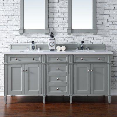 Darby Home Co Deleon 72 Double Urban Gray Bathroom Vanity Set Grey Bathroom Vanity Double Vanity Bathroom Bathroom Vanities Without Tops