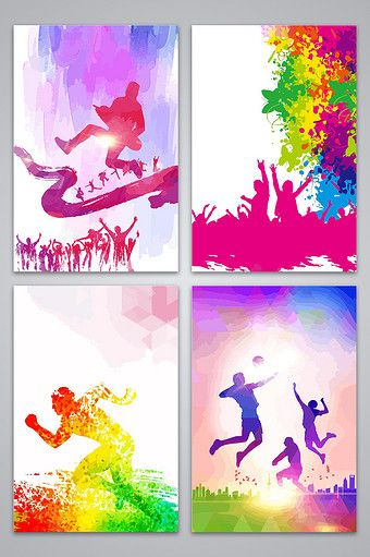 Campus Sports School Sports Competition Running Competition Design Back Pikbest Poster Background Design Sports Day Banner Kids Silhouette