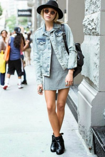 Hang Out In Denim Jackets - Cute Outfits To Wear When You Fly - Photos