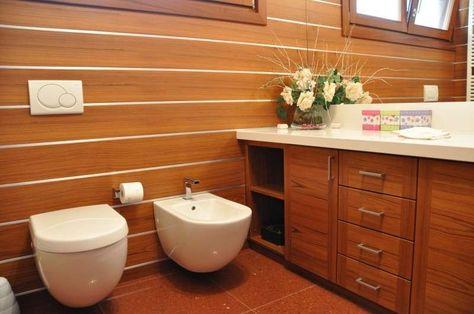 Pareti in legno - Bagno accogliente