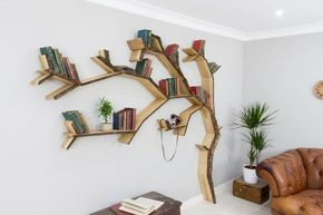 The Windswept Oak Tree Bookshelf In 2019 Baum Bucherregal