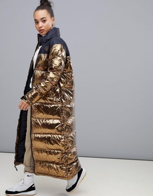 The North Face – Nuptse – Duster Mantel für Damen in Kupfer
