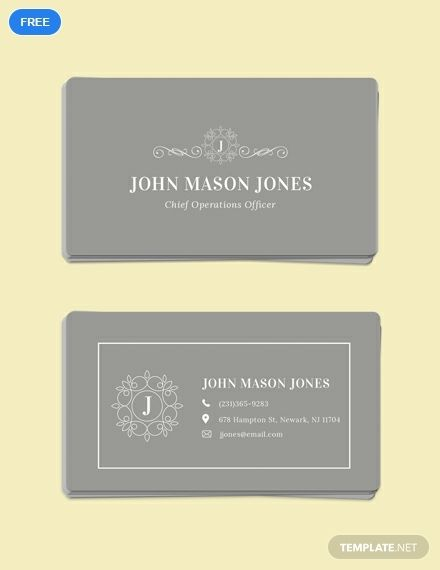 Free Elegant Business Card Template Word Doc Psd Apple Mac Pages Illustrator Publisher Business Card Template Word Free Business Card Templates Elegant Business Cards