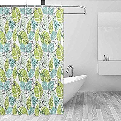 amazon: be.sun bathroom curtains,leaves,for master