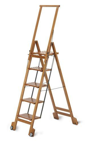 Aris Biblio 5 Folding Step Ladder In Solid Beech Wood Https Www Amazon Com Dp B00d3fxrd6 Ref Cm Sw R Pi Dp X Lb05zb92z2 Step Ladders Beech Wood Ladder