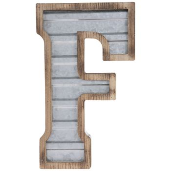 Galvanized Metal Letter Wall Decor F In 2020 Metal Wall
