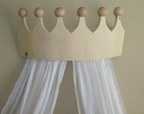 Large Pine Crown Valance/Canopy for Girls Room w/Three Rods
