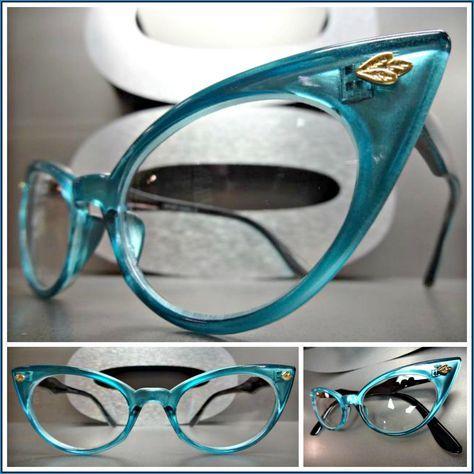 Women/'s CLASSIC VINTAGE RETRO Style Clear Lens EYE GLASSES Unique Fashion Frame
