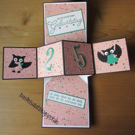 Ein Vierteljahrhundert Popup Karten Geburtstag 25 Geburtstag