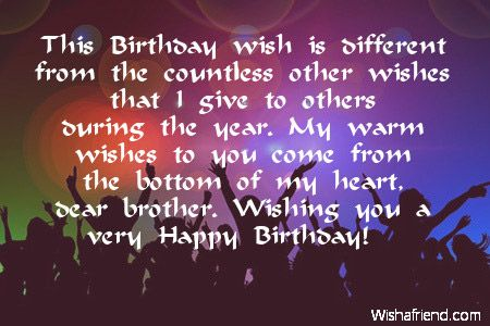 This Birthday wish is different from the countless other wishes – Different Birthday Greetings