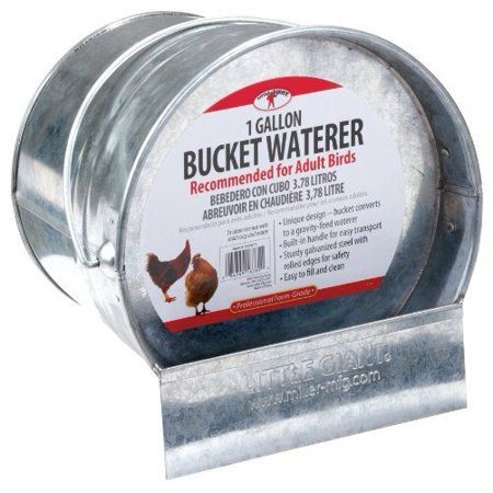 Little Giant Farm Ag 167611 1 Gallon Galvanized Bucket Poultry Waterer Walmart Com Galvanized Buckets Little Giants Gallon