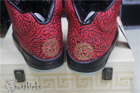 3015293516cf The Lap of luxury Air Jordan 3lab5 Versace Custom(Wooden Box ...