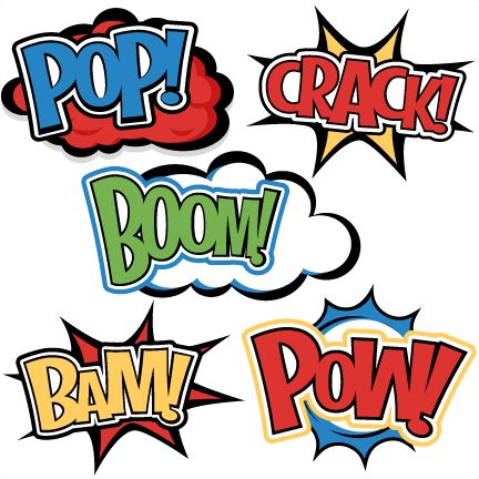 Superhero Words SVG cutting files for scrapbooking superhero clipart