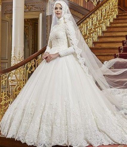 Tesettur Gelinlik Tul Gelinlikler Gelinlik The Dress