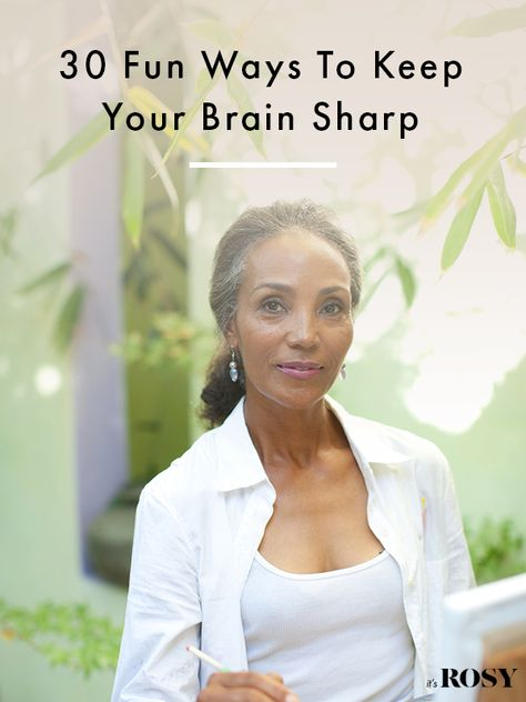 As we age, there are ways we can help our brains stay healthy and keep our memory sharp, though. Like many things, it's a skill you can learn and improve.