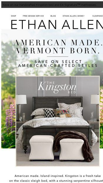 Ethan Allen Black Friday 2020 Sale Offers Discount On Furniture More Mattress Shop Furniture More Fabric Bed
