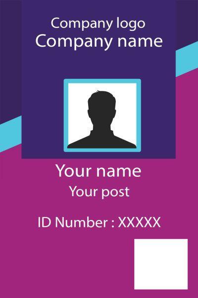 Id Card Twentyone Front Id Card Template Employee Id Card Identity Card Design