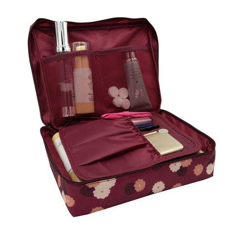 vanite necessaire voyage femmes voyage de toilette wash soutien gorge sous vetements maquillage maquillage cas cosmetique sac organisateur accessoires