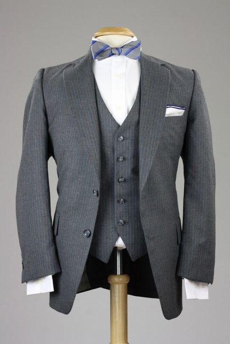 Vintage Botany 500 Gray Wool 3 Piece Suit 42 R Monkey Suit | Grey ...
