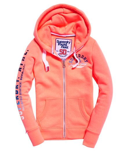 Superdry Track /& Field Hood Sweat-Shirt Femme