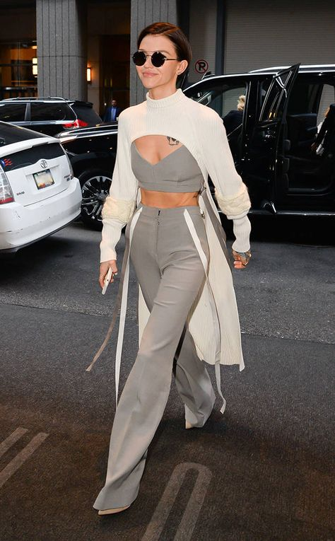 Ruby Rose from The Big Picture: Today's Hot Photos  Fashionista! The actress isall smiles while out and about in New York.