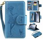 """Magnetic Pattern 9 Cards Wallet Leather Stand Case Cover For iPhone 11 5.8"""" 6.5"""""""