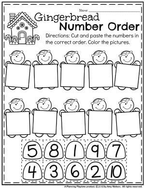 Preschool Math Worksheets In A Fun Gingerbread Theme Gingerbreadmanprintables Gingerbreadmanworksh Preschool Math Worksheets Preschool Math Preschool Lessons