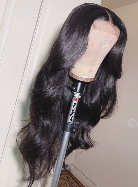 Middle Part Natural Curls Lace Front Human Hair Wig - Bob Sew In, Long Weave Hairstyles, Sew In Hairstyles, Birthday Hairstyles, Sew In Weave, Medium Hair Styles, Curly Hair Styles, Natural Hair Styles, Clip In Extensions
