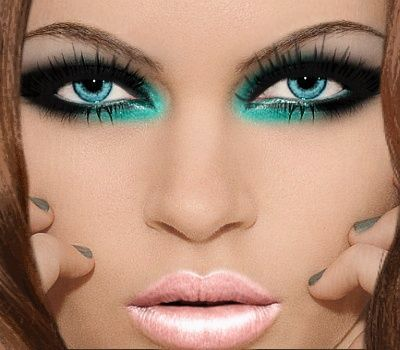 Turquoise make up - ADRIENNE_'S MAKEOVER by ADRIENNE