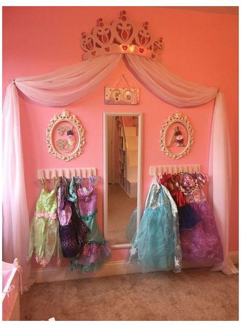 #little #girls #room #decorating #ideas #princess #littlegirlsroomdecoratingideasprincess Disney Princess Bedroom, Princess Bedrooms, Disney Bedrooms, Toddler Princess Room, Princess Room Decor, Princess Disney, Baby Princess, Girls Princess Dresses, Toddler Bedroom Ideas