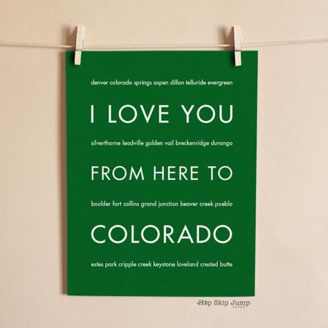 Show your Colorado love with this travel art poster. This wall art print makes a great gift for anyone, whether they're exploring the parks and restaurants in D