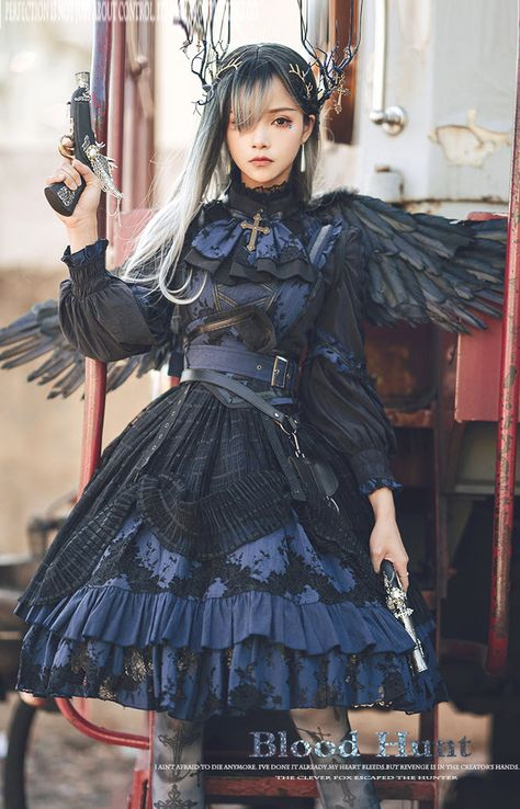 New Round Preorder: LingXi 【-The Wild Hunter-】 #GothicLolita JSK, Blouse and Corset