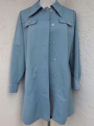 282fef8896aef Forecaster-of-Boston-size-M-powder-blue-vintage-trench-coat