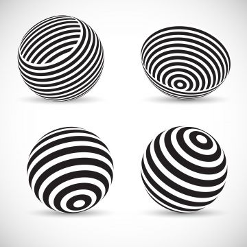 Striped Spherical Designs Abstract Vector Background Png And Vector With Transparent Background For Free Download Vector Free Abstract Template Design