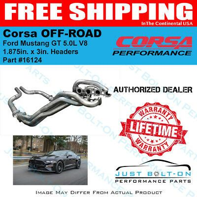 Details About Corsa 1 875in X 3in Headers Off Road Pipes 2018 2019 Mustang Gt 5 0l V8 16124 In 2020 Mustang Gt Mustang Ford Mustang Gt