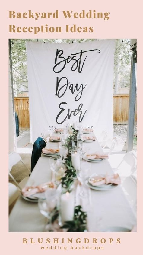 Unique Decoration for your Best Day Ever! Backyard Wedding Reception Inspiration #backyardwedding #2021wedding #smallwedding #outdoorwedding #weddingreception