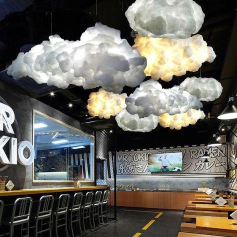Nordic Wolke Kronleuchter Kreative Personlichkeit Hotel Restaurant