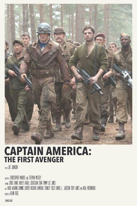 alternative minimalist polaroid poster: captain america: the first avenger by priya