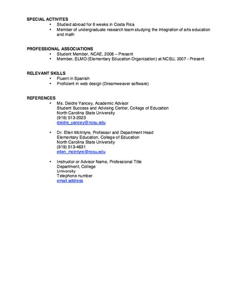 NCSU Resume Sample - http\/\/resumesdesign\/ncsu-resume-sample - example of cook resume